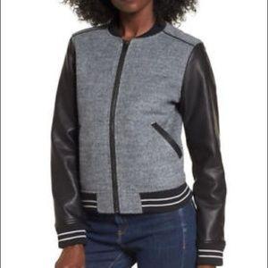 Blank NYC Large Bomber Varsity Jacket Like New